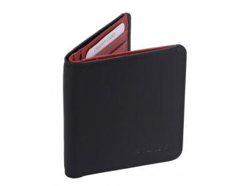 Kartentasche schwarz/ rot